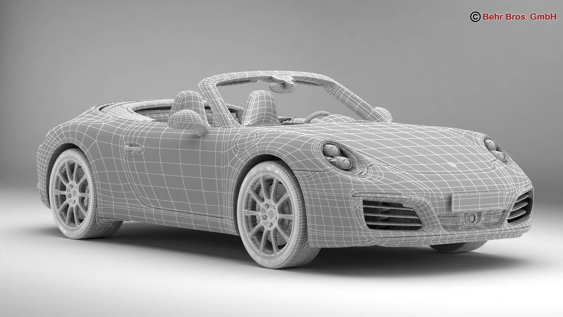 porsche 911 carrera cabriolet 2017 3d model 3ds max fbx c4d lwo ma mb obj 220806