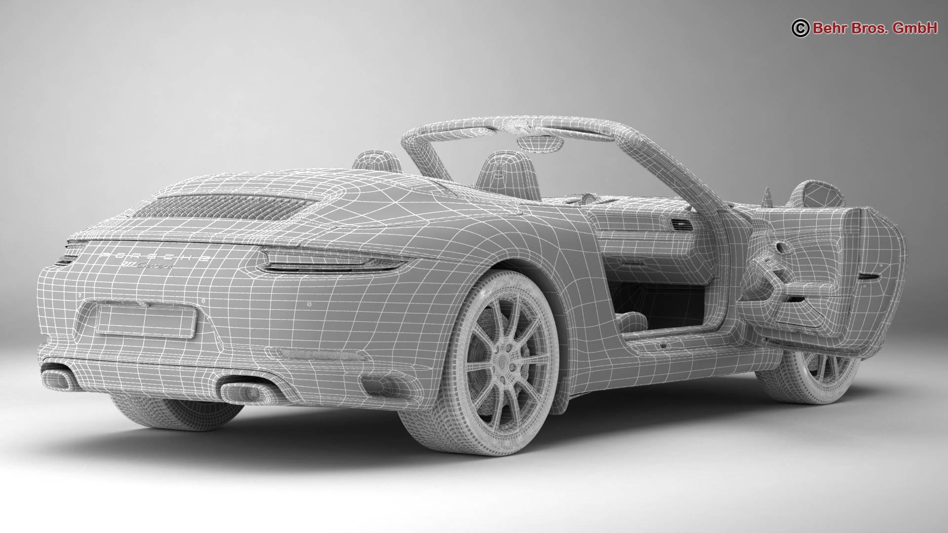 porsche 911 carrera cabriolet 2017 3d model 3ds max fbx c4d lwo ma mb obj 220809