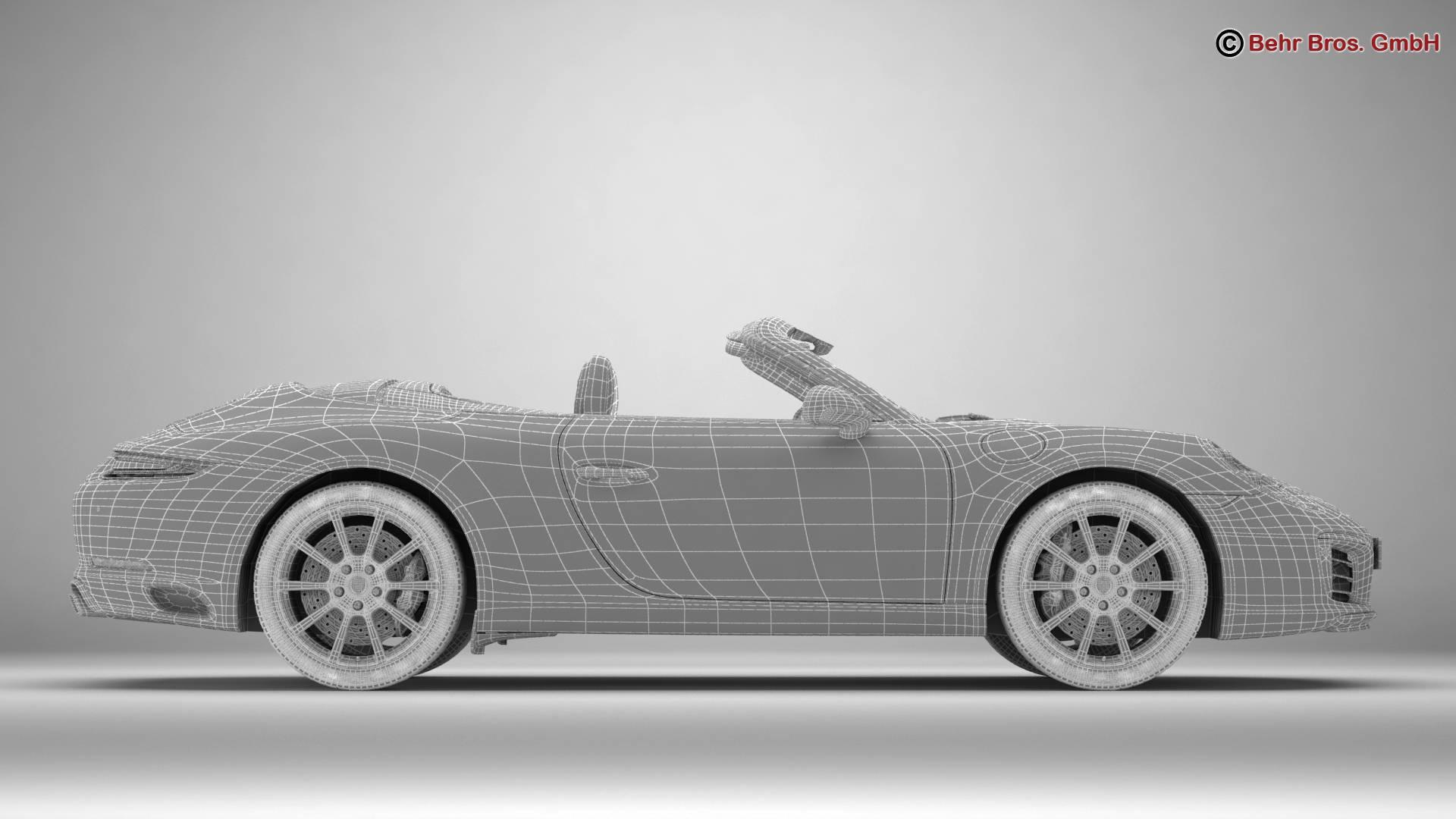 porsche 911 carrera cabriolet 2017 3d model 3ds max fbx c4d lwo ma mb obj 220810