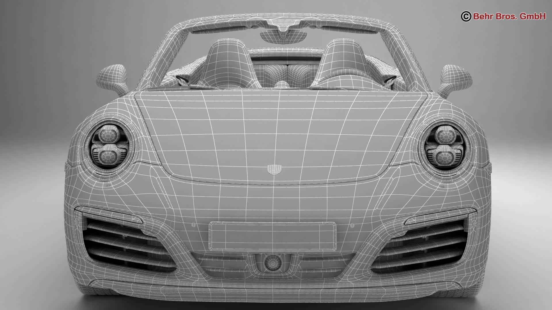 porsche 911 carrera cabriolet 2017 3d model 3ds max fbx c4d lwo ma mb obj 220811