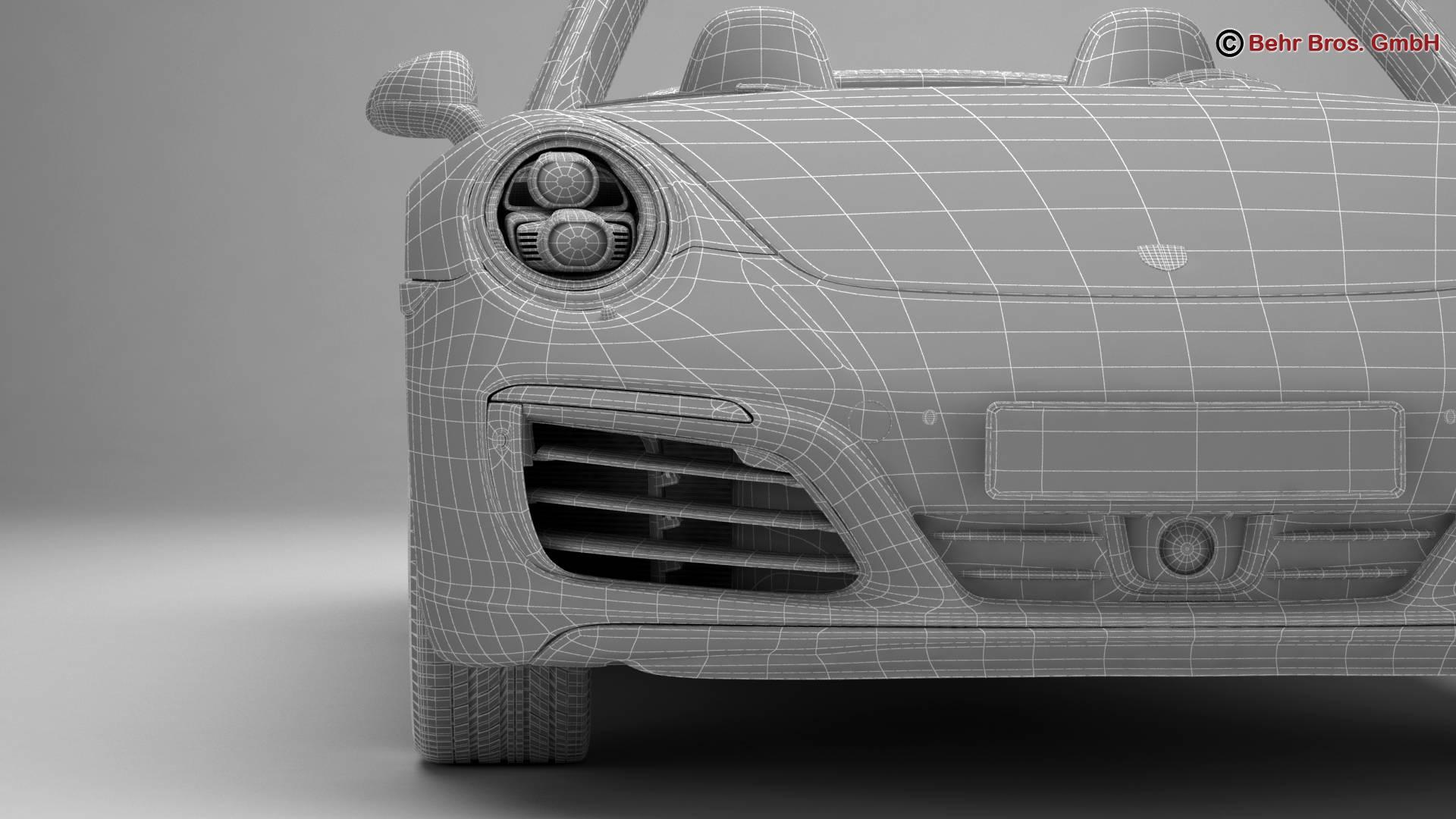 porsche 911 carrera cabriolet 2017 3d model 3ds max fbx c4d lwo ma mb obj 220812