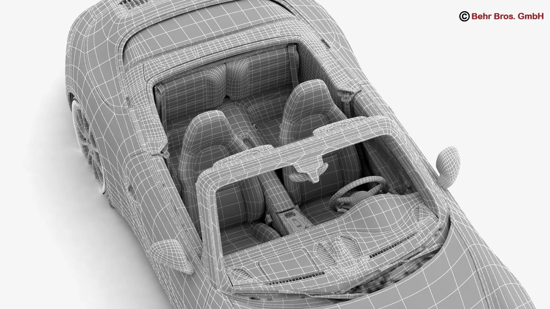 porsche 911 carrera cabriolet 2017 3d model 3ds max fbx c4d lwo ma mb obj 220816
