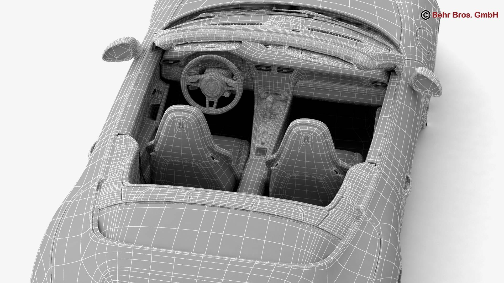 porsche 911 carrera cabriolet 2017 3d model 3ds max fbx c4d lwo ma mb obj 220817