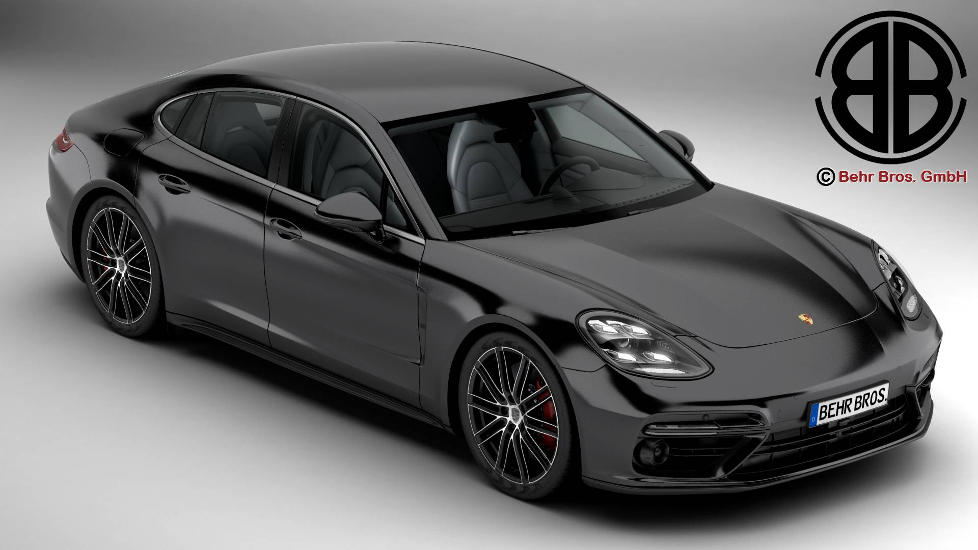 porsche panamera turbo 2017 3d model 3ds max fbx c4d le do thoil 220822