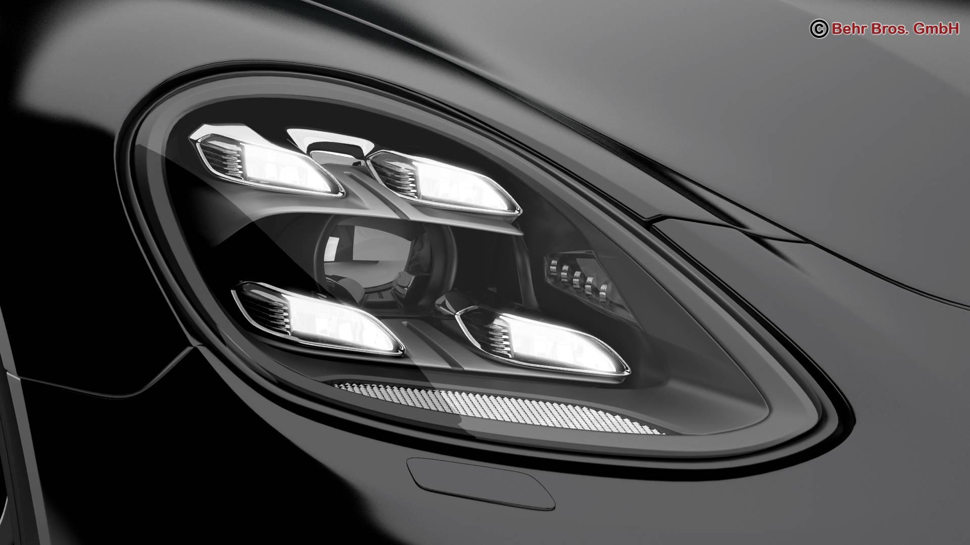 porsche panamera turbo 2017 3d model 3ds max fbx c4d lwo ma mb obj 220831