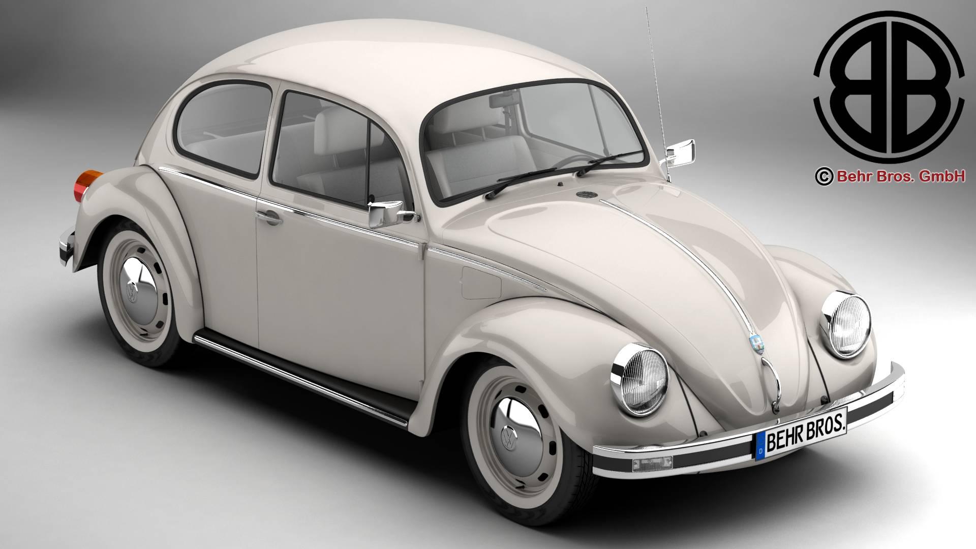 volkswagen beetle 2003 ultima edicion 3d model 3ds max fbx c4d lwo ma mb obj 220877