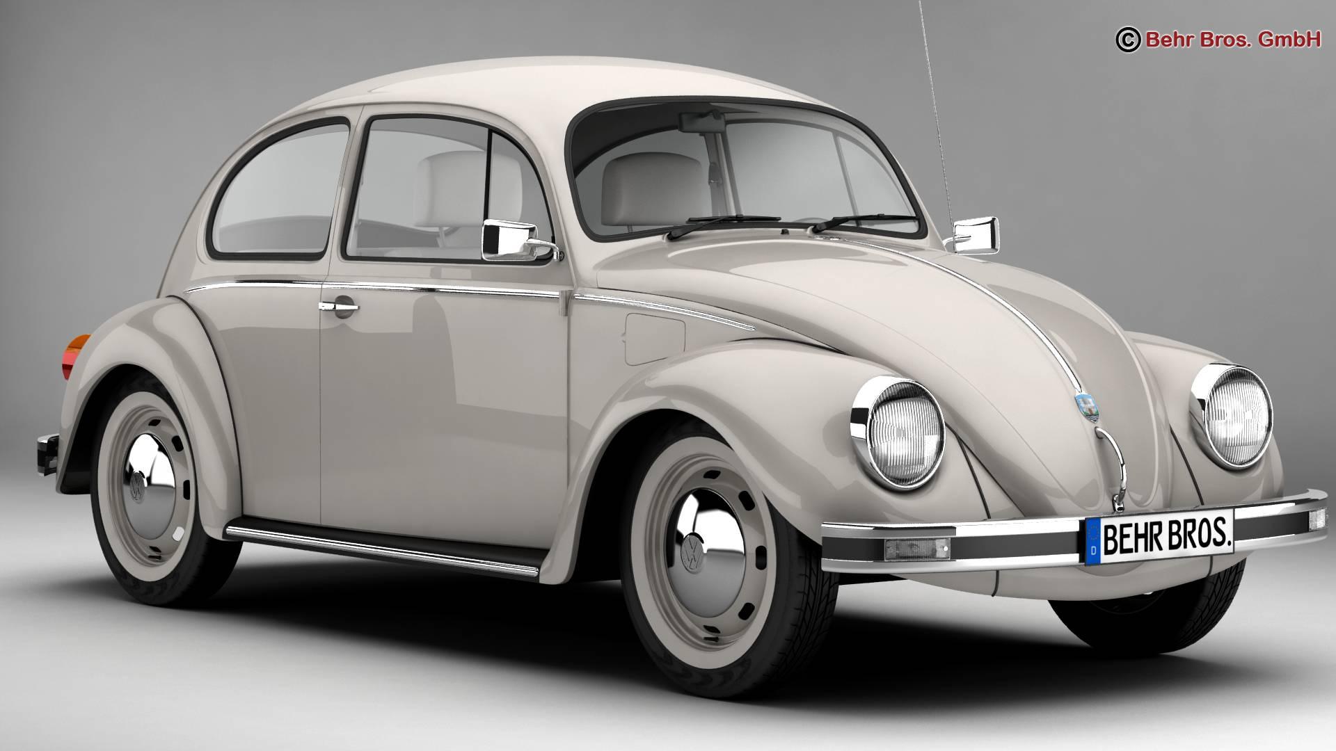 volkswagen beetle 2003 ultima edicion 3d model buy. Black Bedroom Furniture Sets. Home Design Ideas