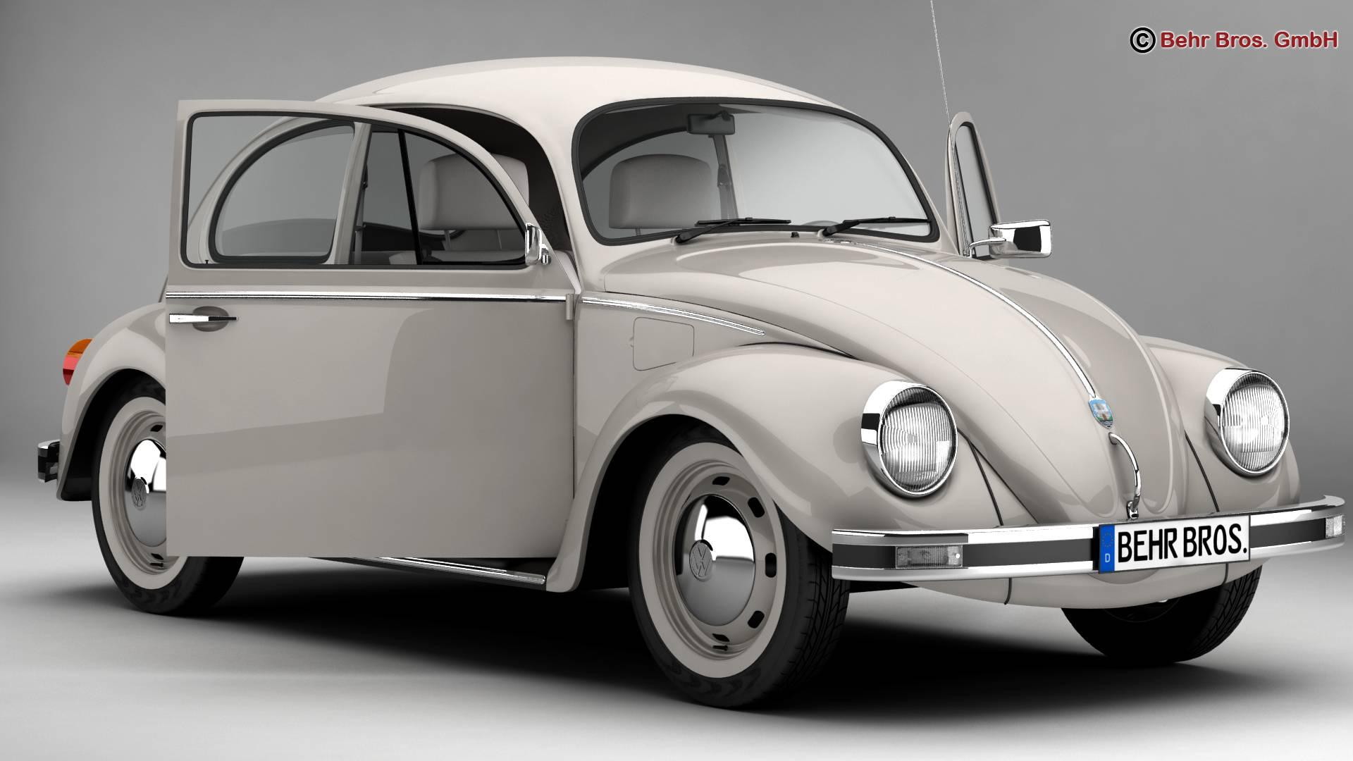 volkswagen beetle 2003 ultima edicion 3d model 3ds max fbx c4d lwo ma mb obj 220879