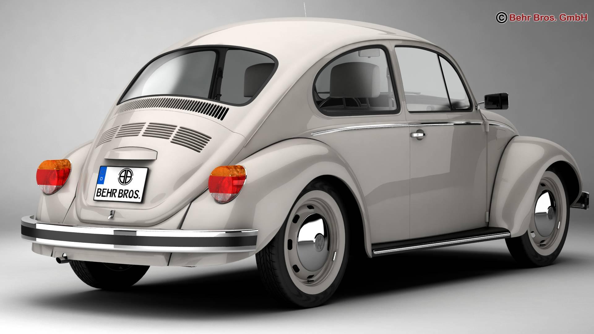 volkswagen beetle 2003 ultima edicion 3d model 3ds max fbx c4d lwo ma mb obj 220880