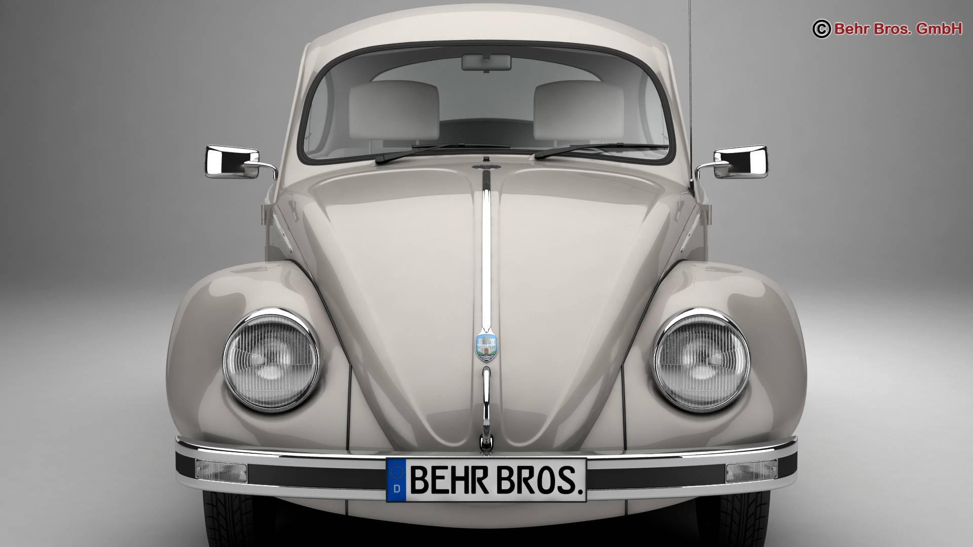 volkswagen beetle 2003 ultima edicion 3d model 3ds max fbx c4d lwo ma mb obj 220883