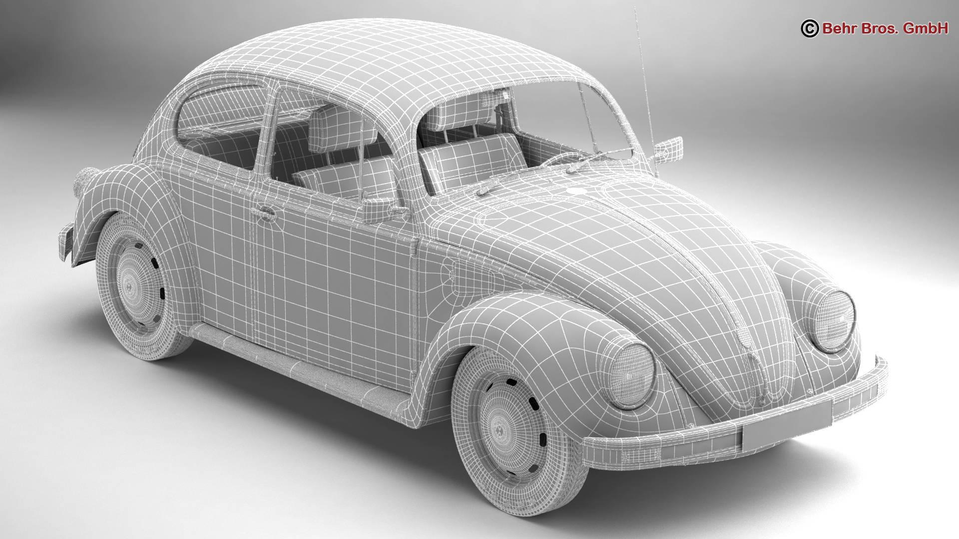 volkswagen beetle 2003 ultima edicion 3d model 3ds max fbx c4d lwo ma mb obj 220892
