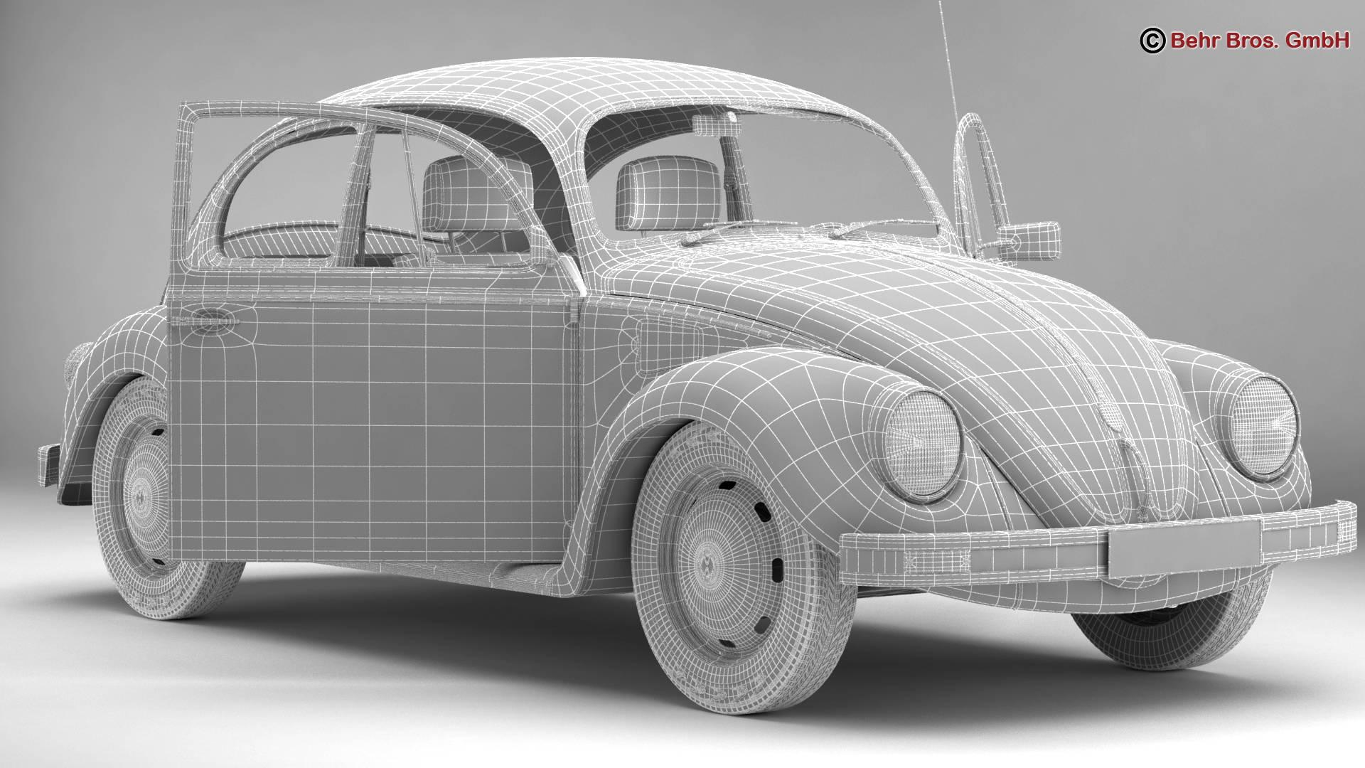 volkswagen beetle 2003 ultima edicion 3d model 3ds max fbx c4d lwo ma mb obj 220894