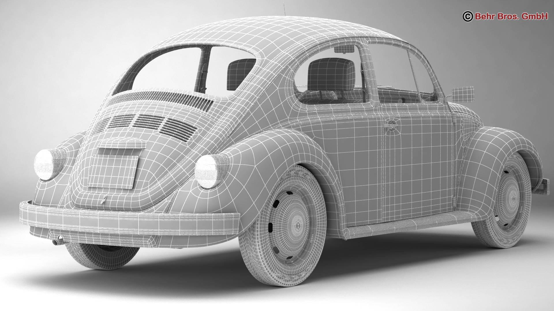 volkswagen beetle 2003 ultima edicion 3d model 3ds max fbx c4d lwo ma mb obj 220895