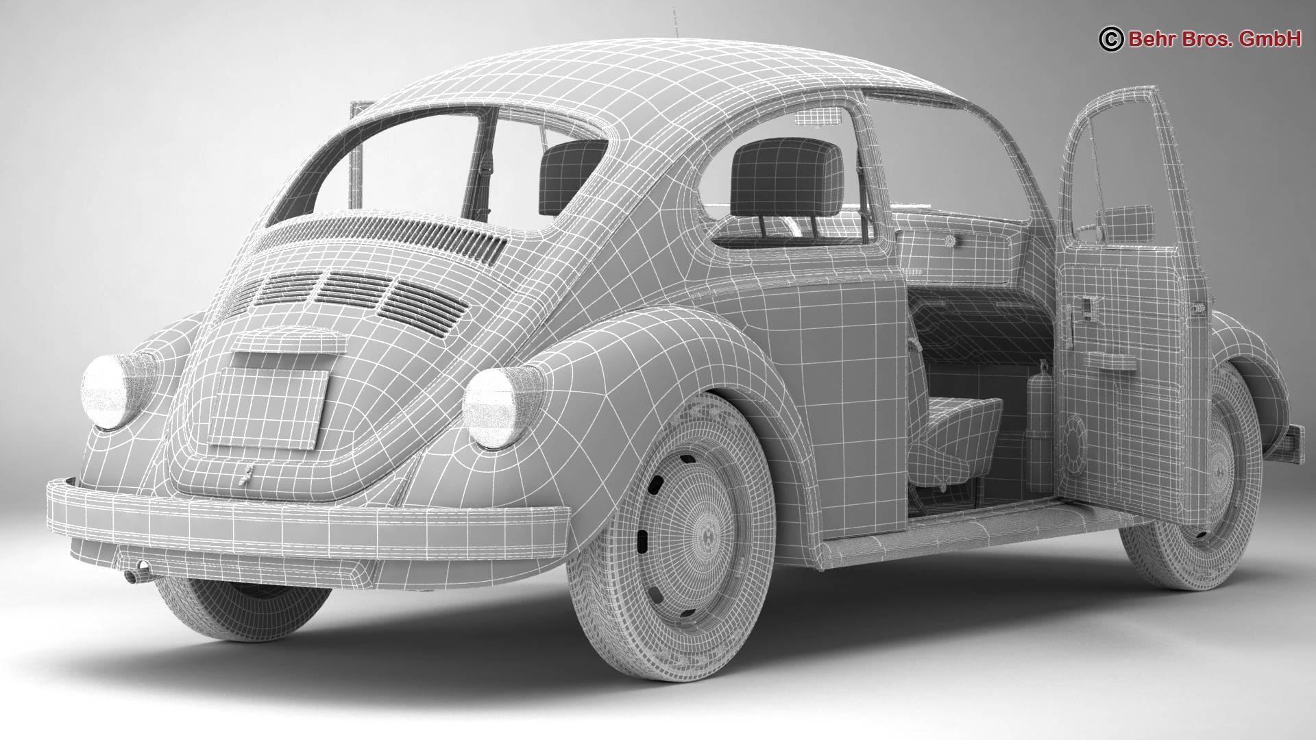 volkswagen beetle 2003 ultima edicion 3d model 3ds max fbx c4d lwo ma mb obj 220896