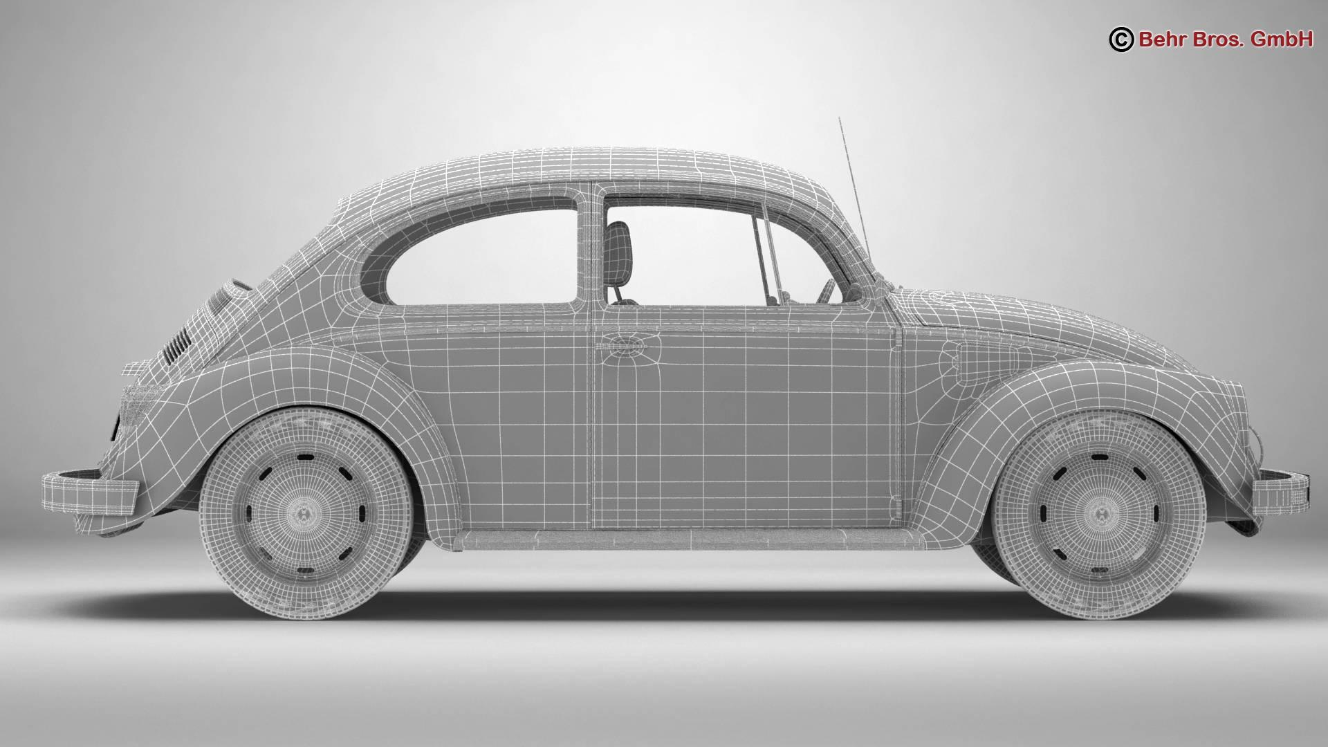 volkswagen beetle 2003 ultima edicion 3d model 3ds max fbx c4d lwo ma mb obj 220897
