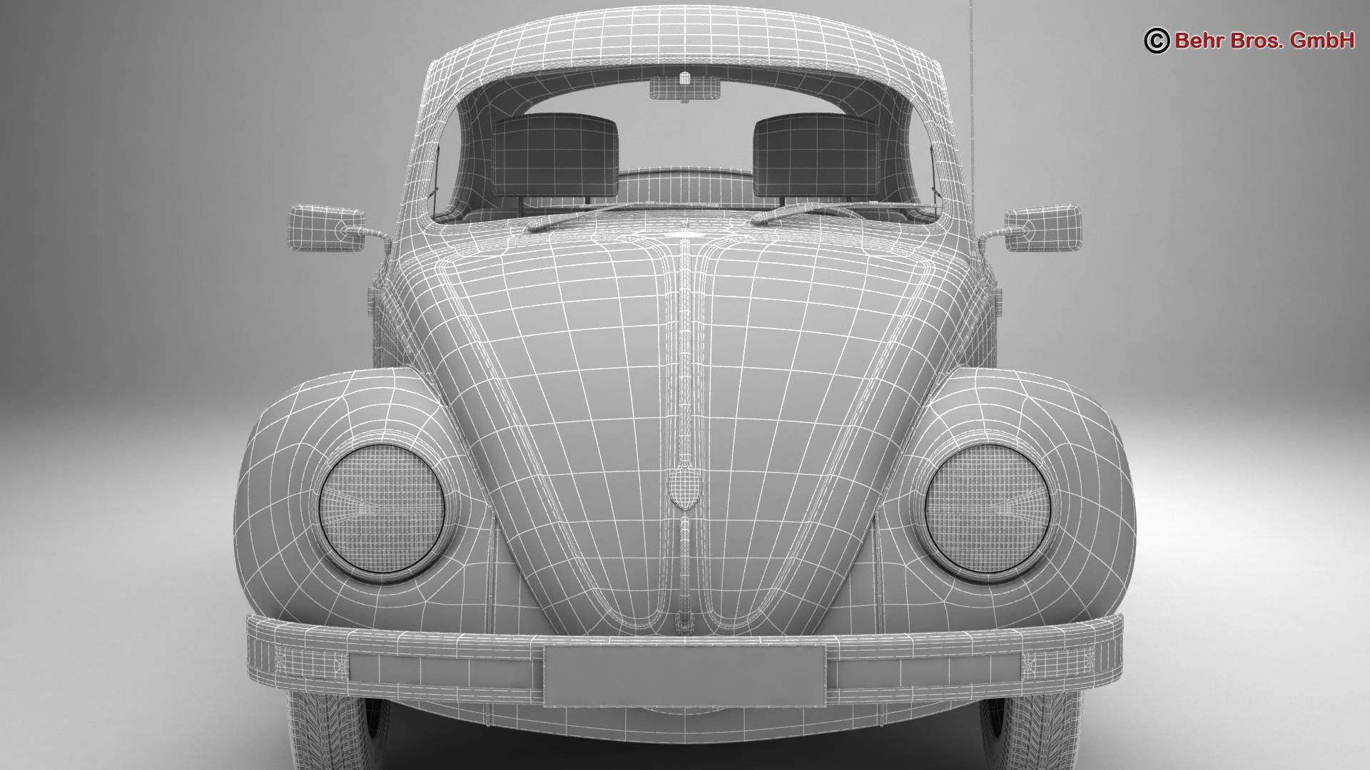 volkswagen beetle 2003 ultima edicion 3d model 3ds max fbx c4d lwo ma mb obj 220898