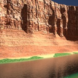 Canyon with river 3d model max fbx