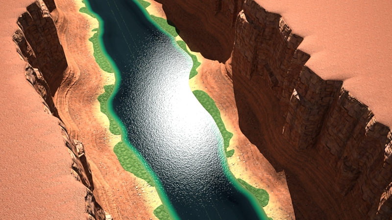 Canyon with river	 ( 316.59KB jpg by laguf )