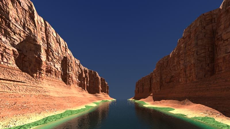 kanjon s rijekom 3d model max fbx 220915