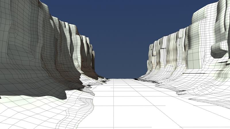 kanjon s rijekom 3d model max fbx 220917