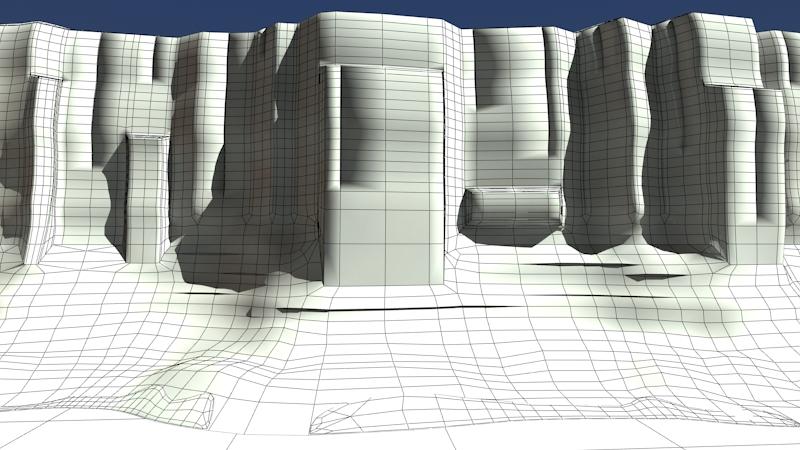 kanjon s rijekom 3d model max fbx 220918