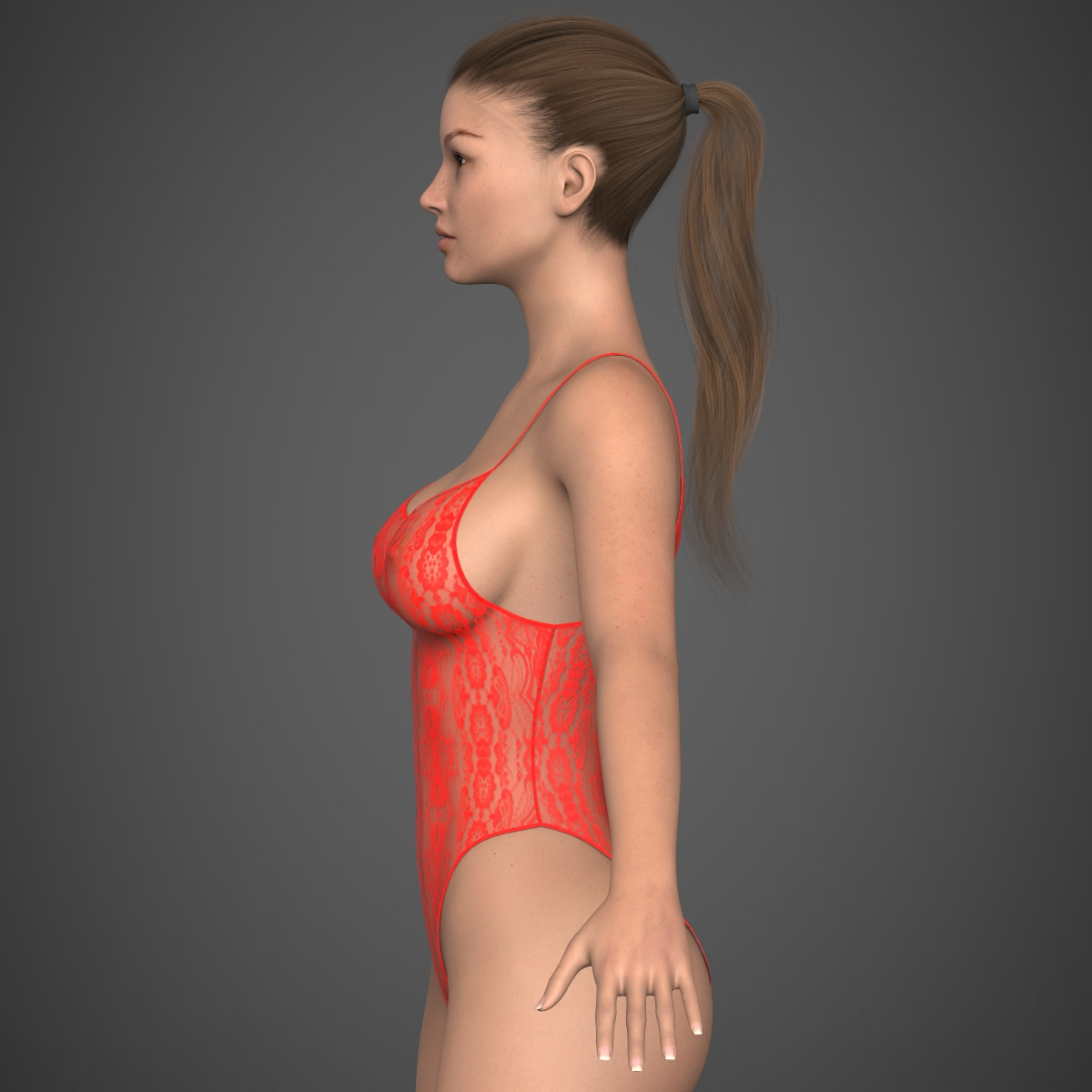 realistic young girl 3d model max fbx c4d ma mb texture obj 220924