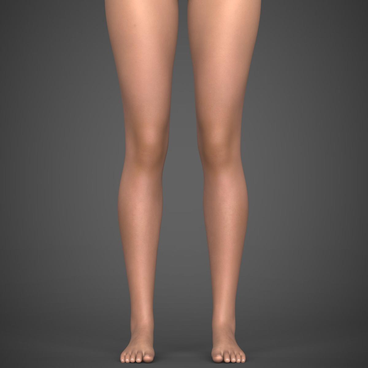 realistic young girl 3d model max fbx c4d ma mb texture obj 220925