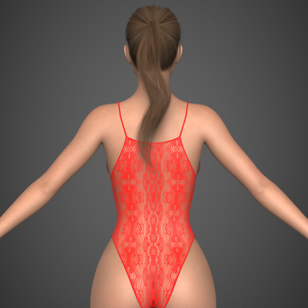 realistic young girl 3d model max fbx c4d ma mb texture obj 220929