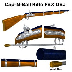 Cap-N-Ball Rifle FBX OBJ 3d model 0