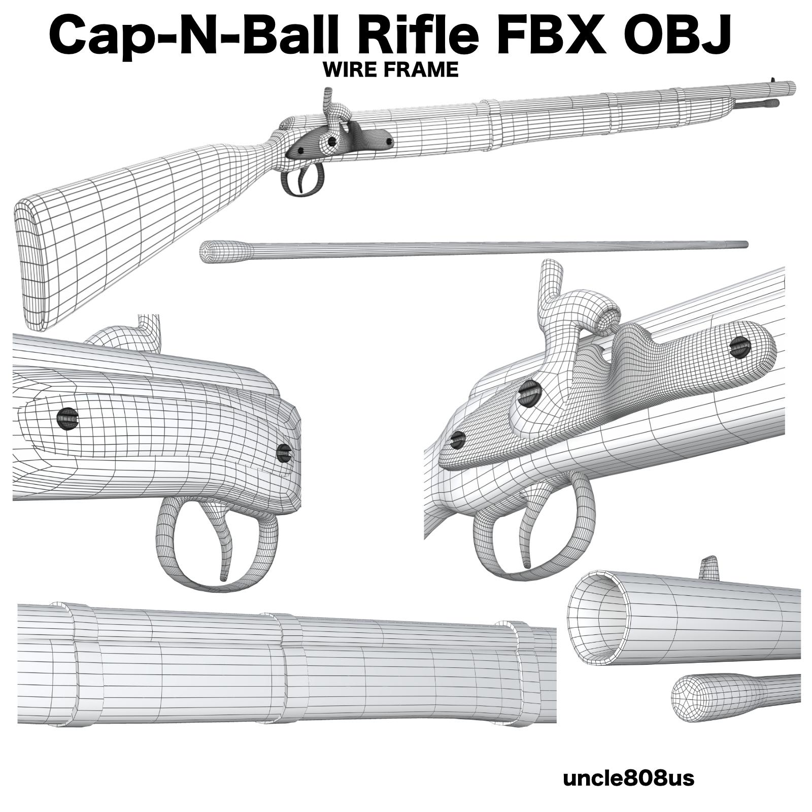 cap-n-ball rifle fbx obj 3d model fbx 220982