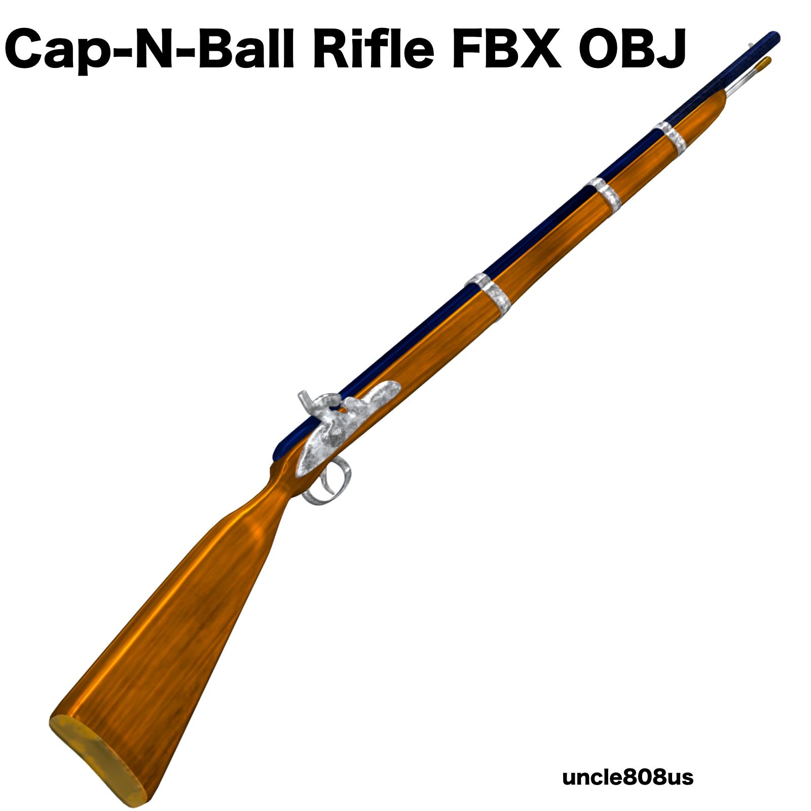 cap-n-ball rifle fbx obj 3d model fbx 220983