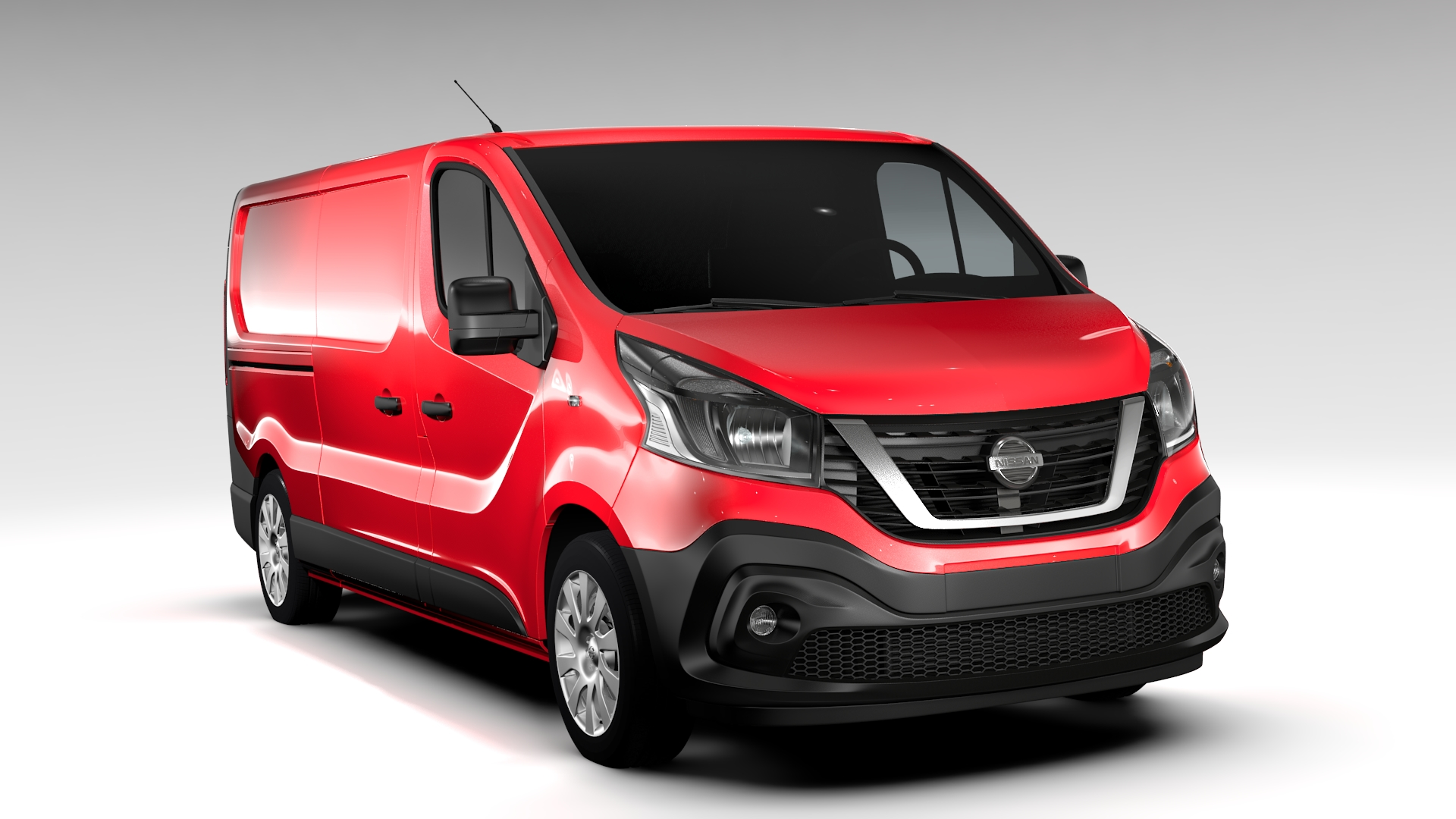 nissan nv300 van l2h1 2016 3d model 3ds max fbx c4d