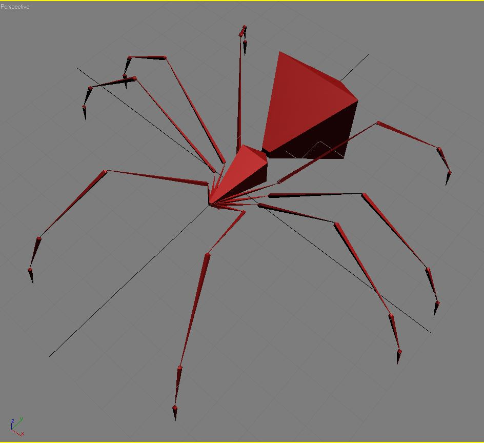 black spider rigged 3d model 3ds max fbx  obj 221111