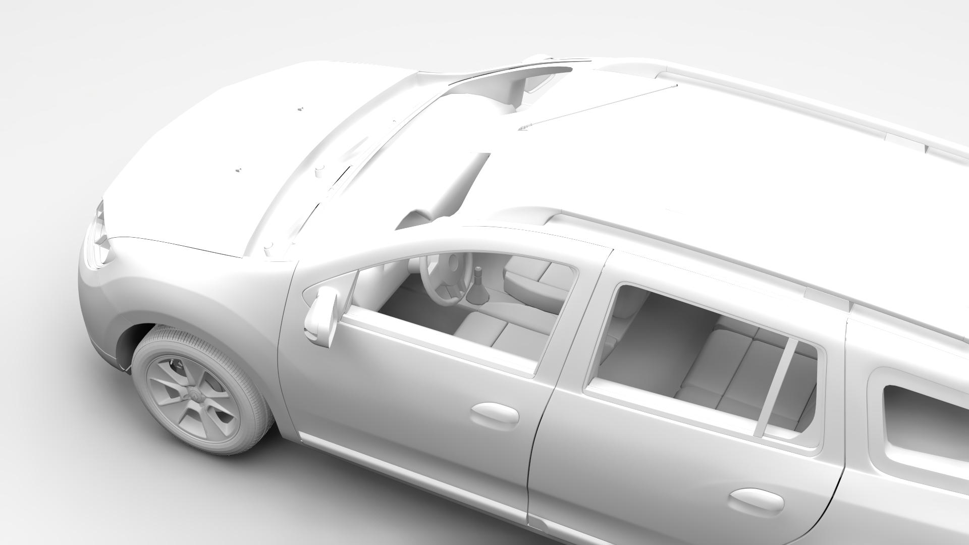 renault logan mcv 2016 3d modelis 3ds maks.