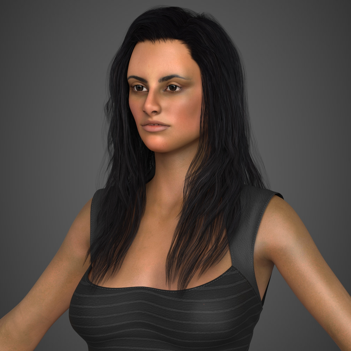 young sexy woman 3d model max fbx c4d ma mb texture obj 221212