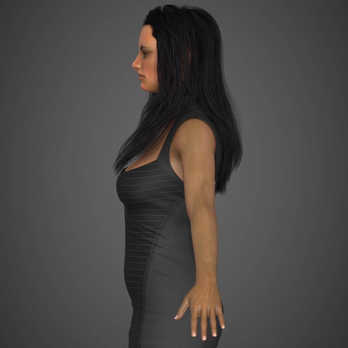 young sexy woman 3d model max fbx c4d ma mb texture obj 221214