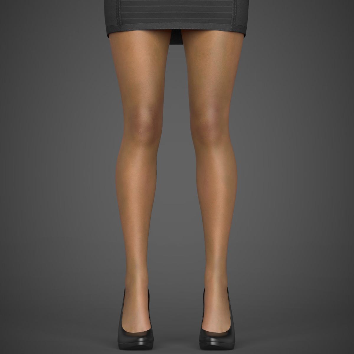 young sexy woman 3d model max fbx c4d ma mb texture obj 221215