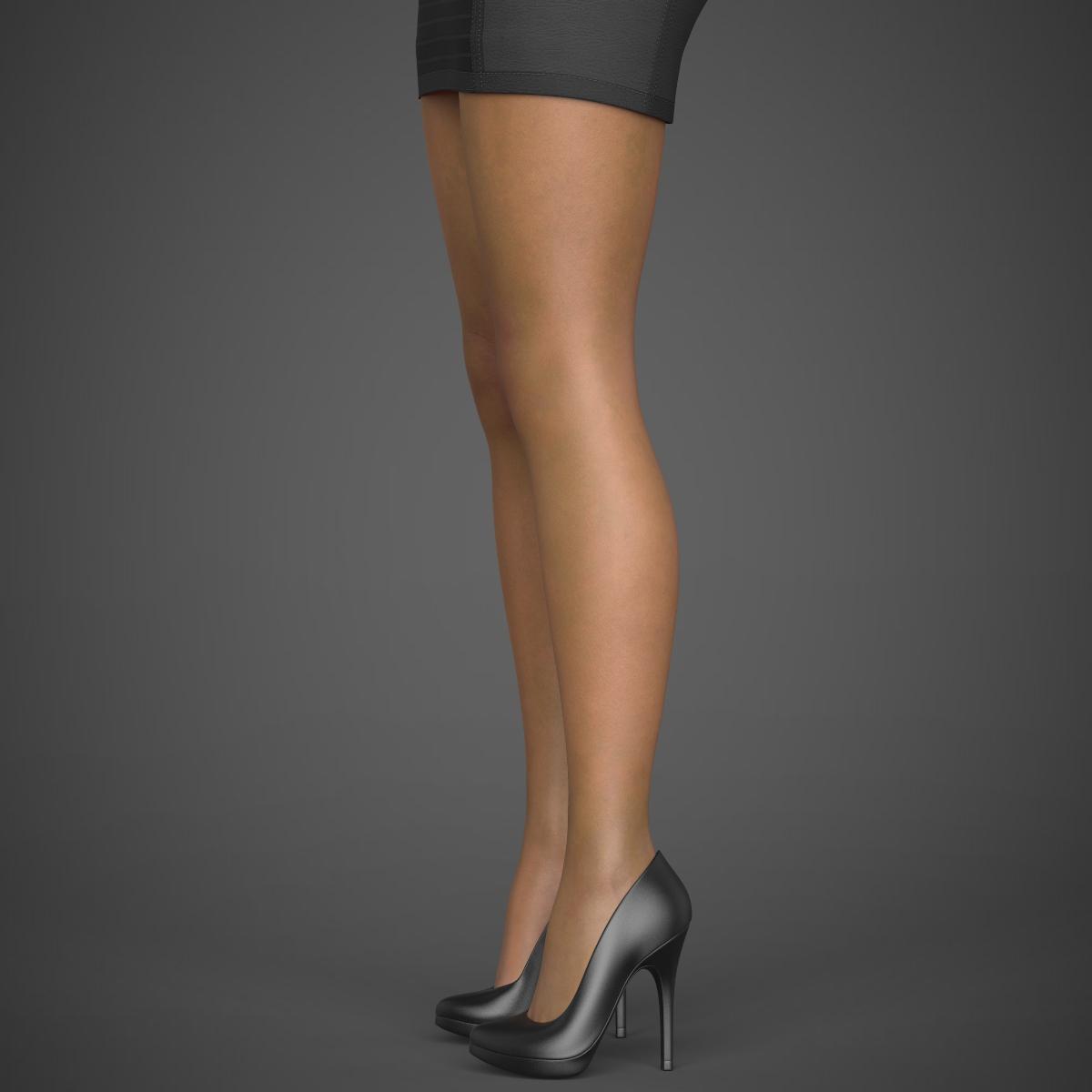 young sexy woman 3d model max fbx c4d ma mb texture obj 221216