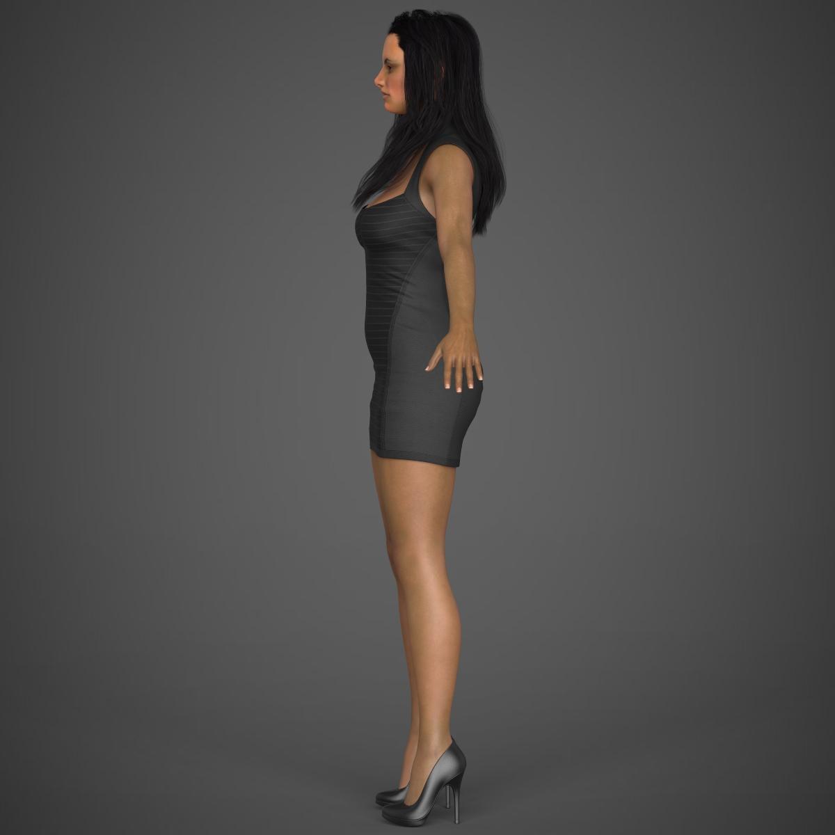 young sexy woman 3d model max fbx c4d ma mb texture obj 221218