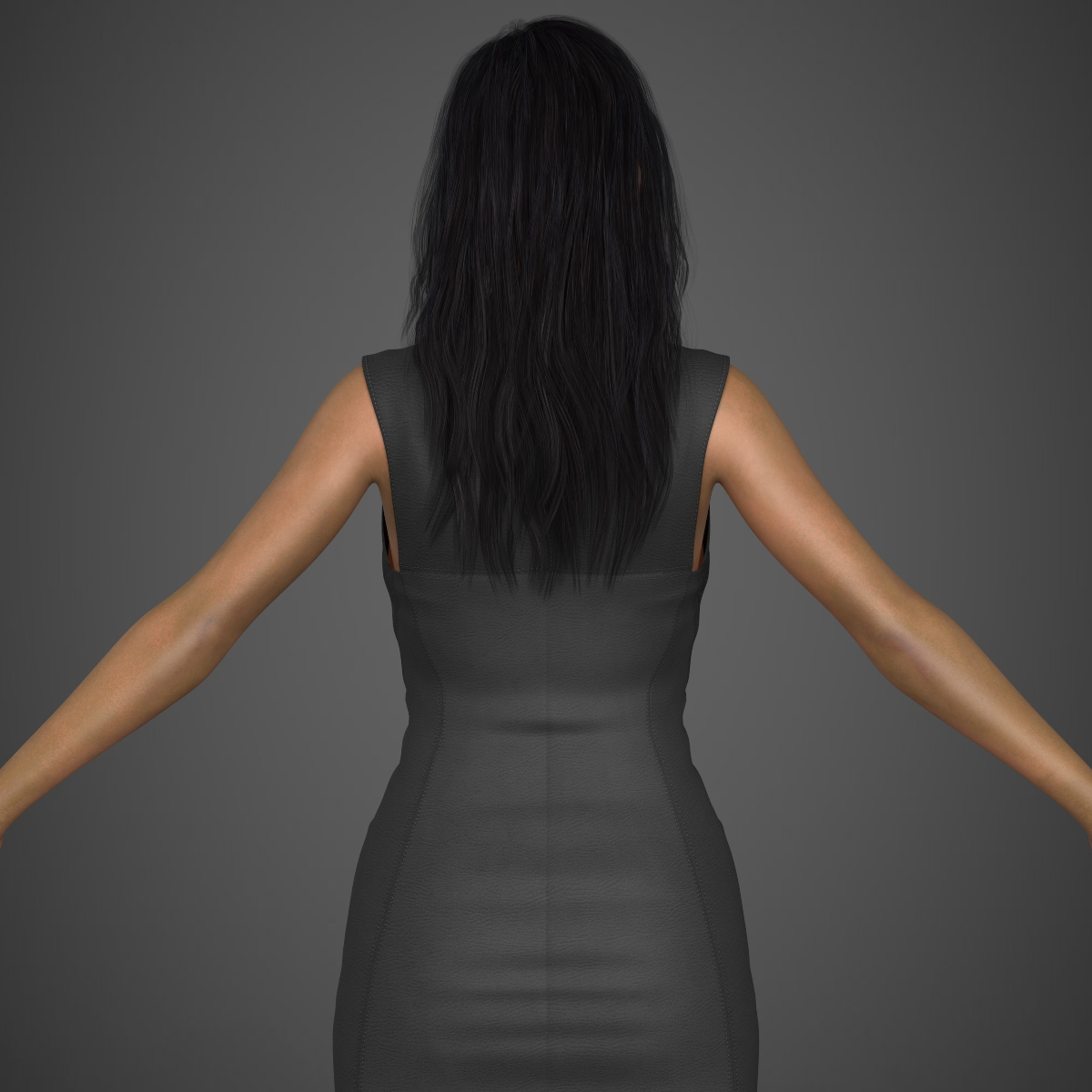 young sexy woman 3d model max fbx c4d ma mb texture obj 221219
