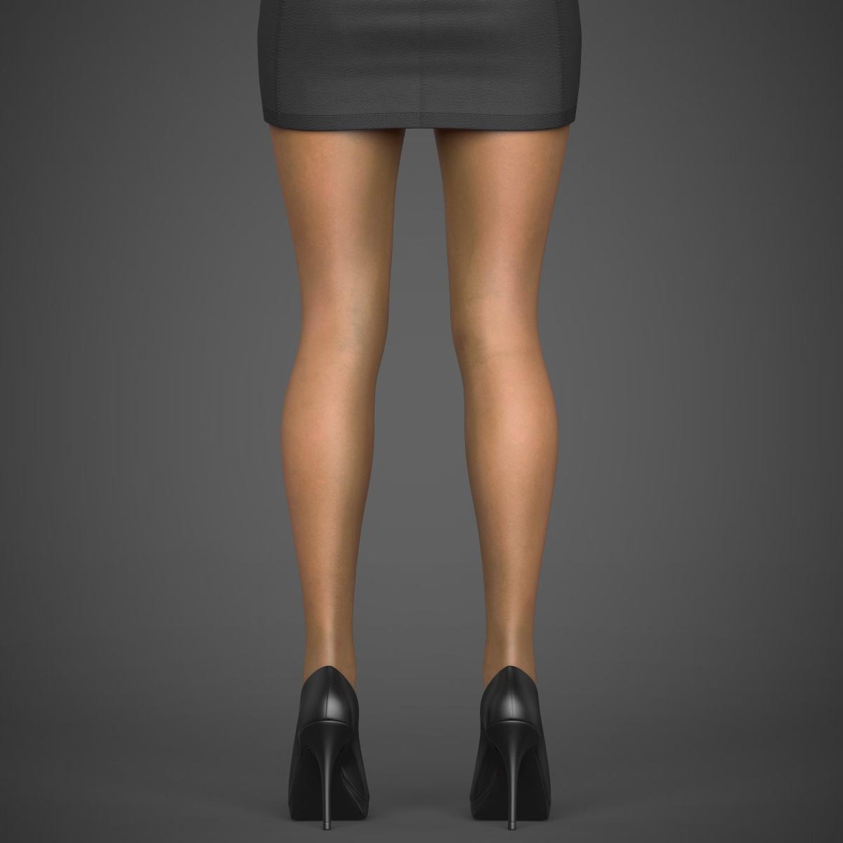 young sexy woman 3d model max fbx c4d ma mb texture obj 221220