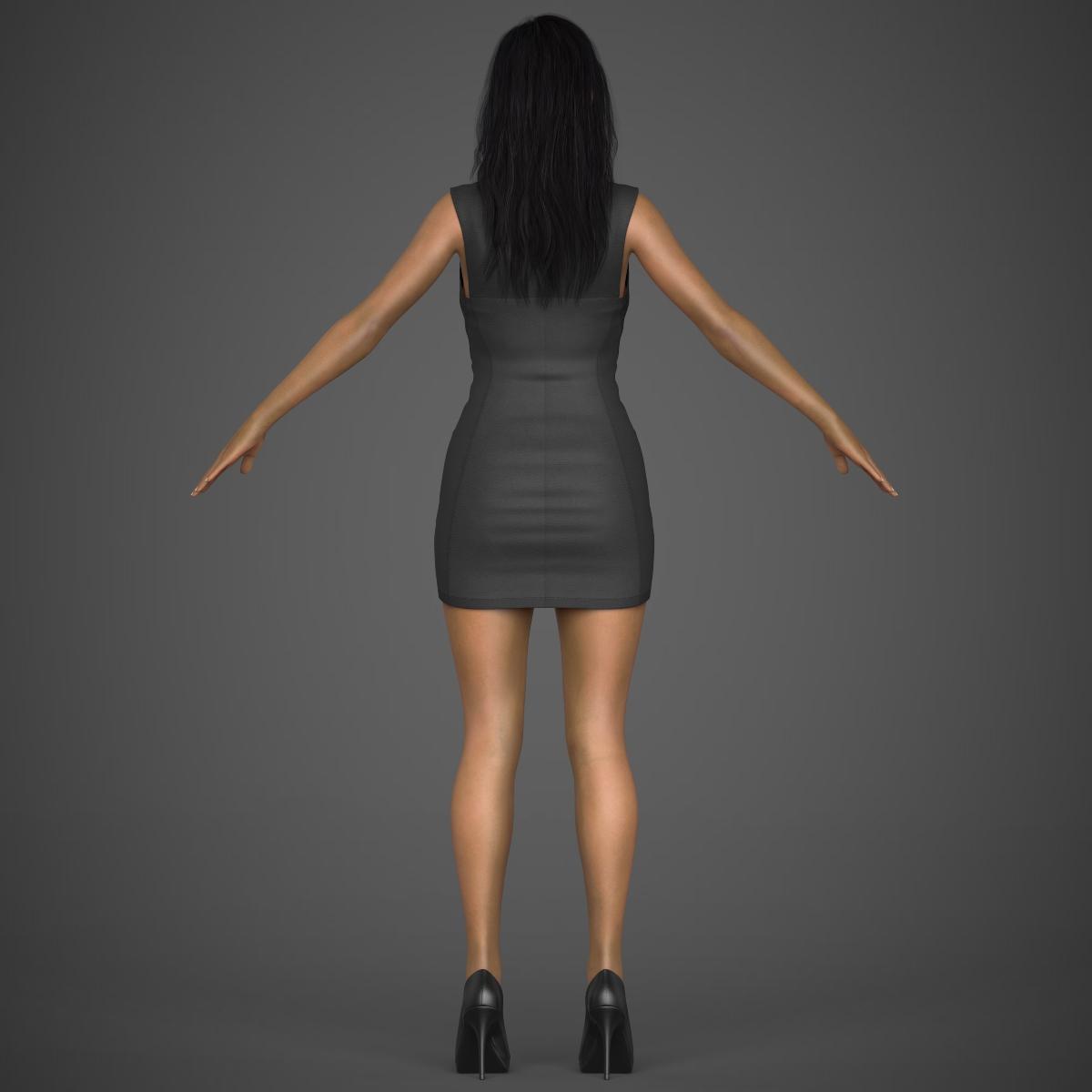 young sexy woman 3d model max fbx c4d ma mb texture obj 221221