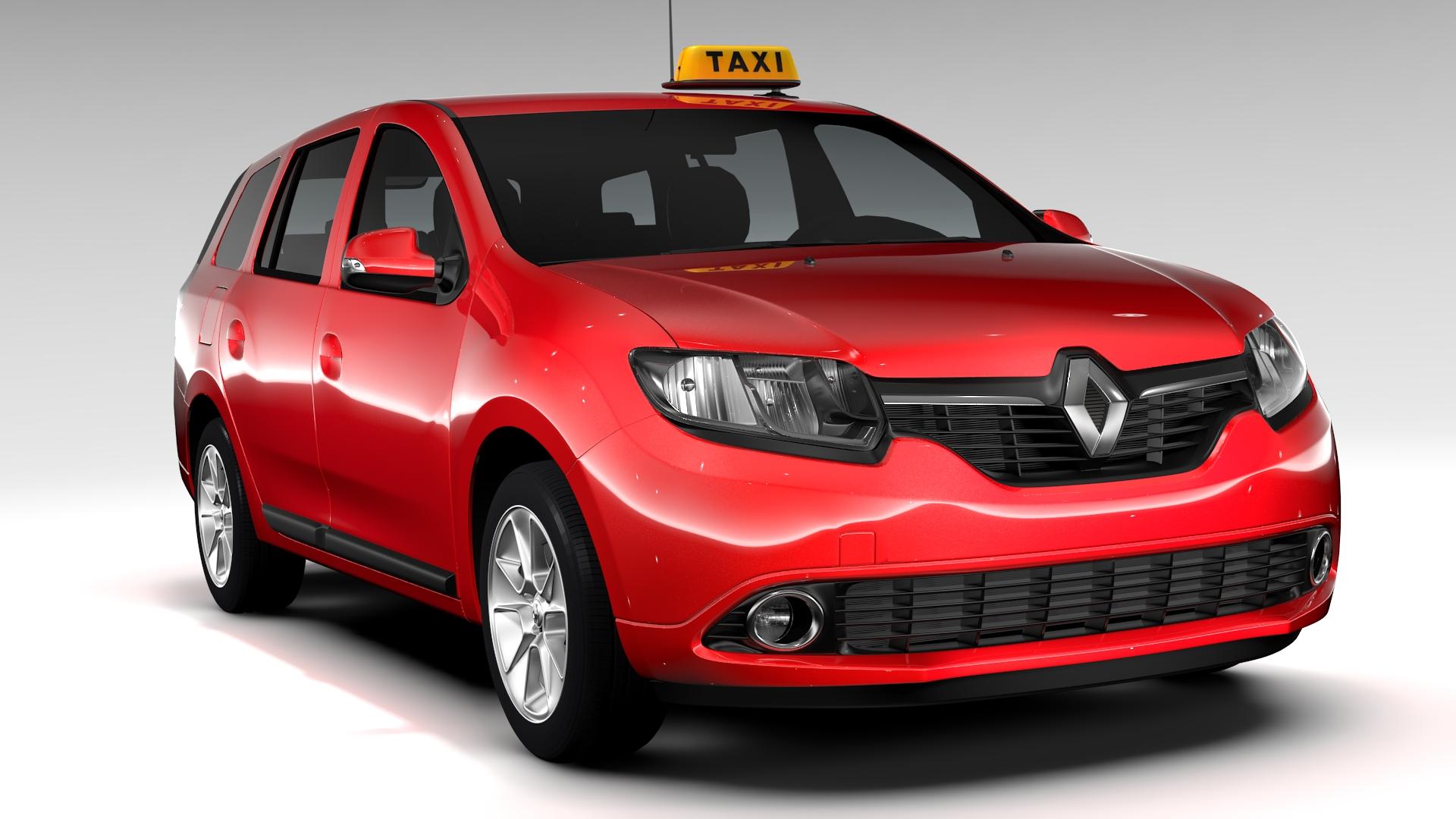 renault logan mcv taksi 2016 3d model 3ds max fbx c4d lwo ma mb hrc xsi obj 221278