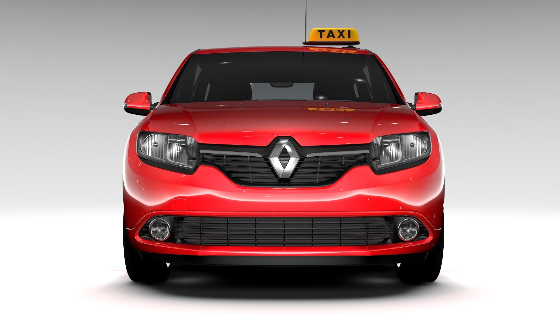 renault logan mcv taxi 2016 3d model 3ds max fbx c4d lwo ma mb hrc xsi obj 221279