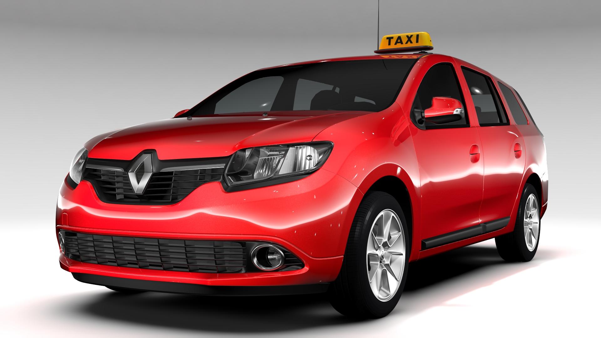 renault logan mcv taxi 2016 3d model 3ds max fbx c4d lwo ma mb hrc xsi obj 221280