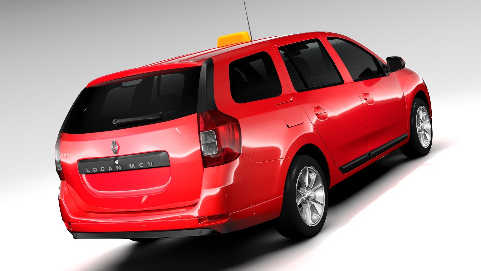 renault logan mcv taxi 2016 3d model 3ds max fbx c4d lwo ma mb hrc xsi obj 221284