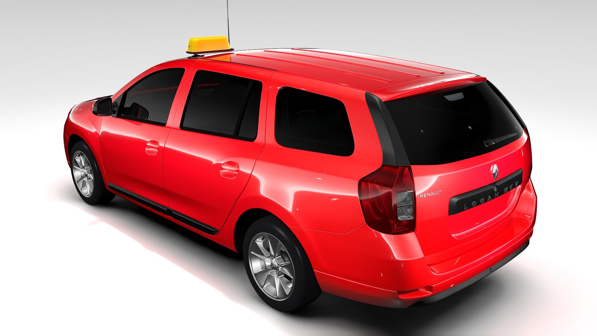 renault logan mcv taxi 2016 3d model 3ds max fbx c4d lwo ma mb hrc xsi obj 221285