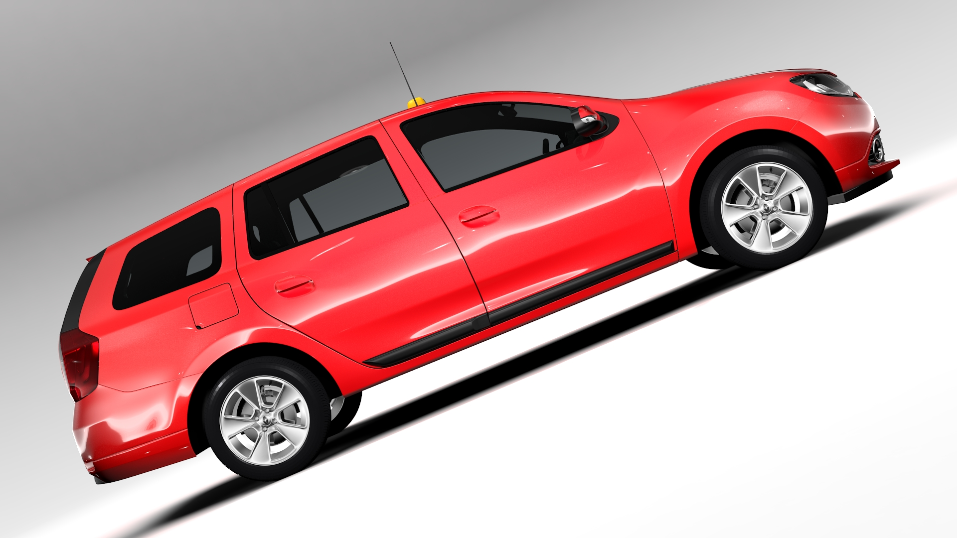 renault logan mcv taxi 2016 3d model 3ds max fbx c4d lwo ma mb hrc xsi obj 221287