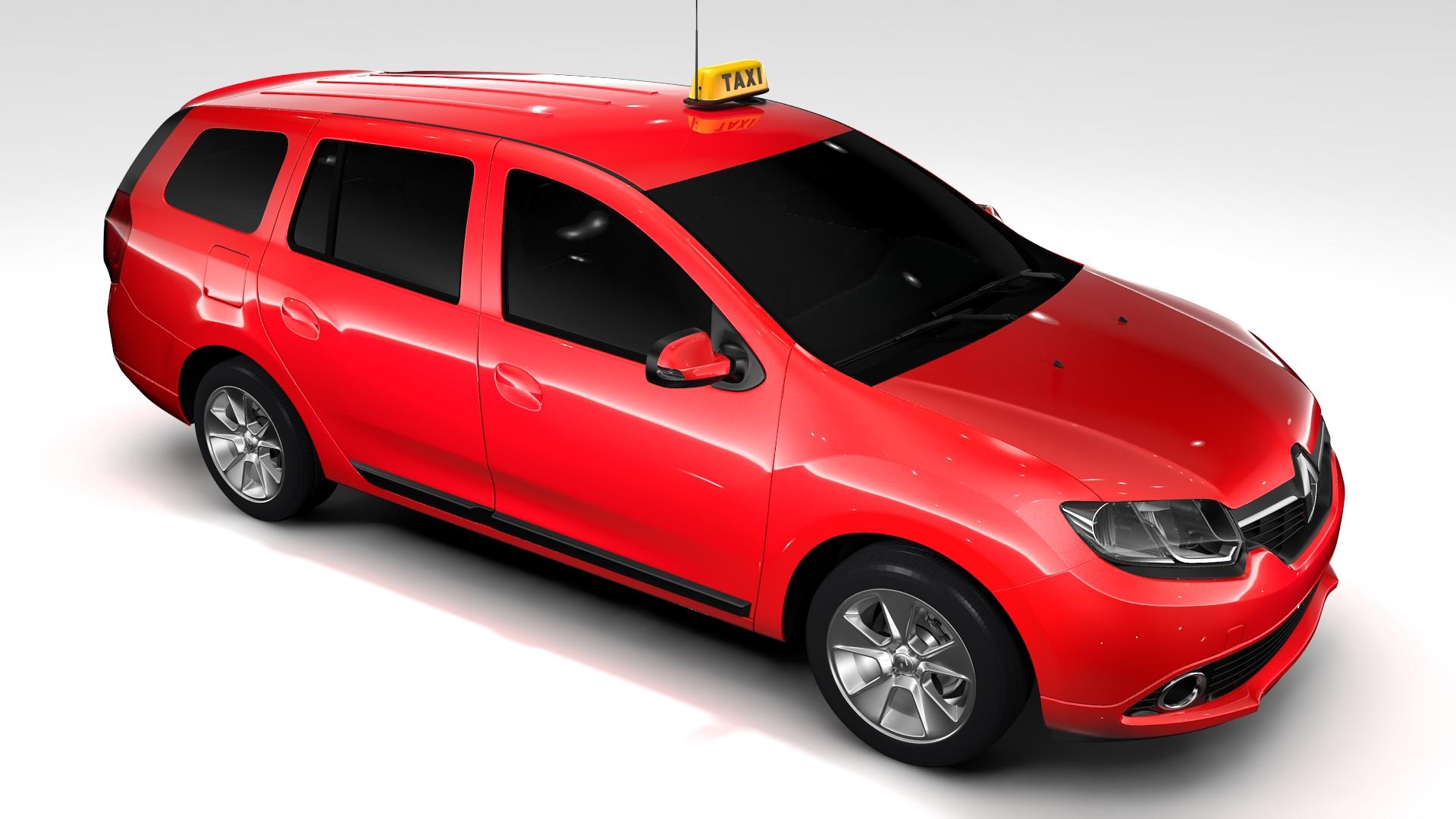 renault logan mcv taxi 2016 3d model 3ds max fbx c4d lwo ma mb hrc xsi obj 221290