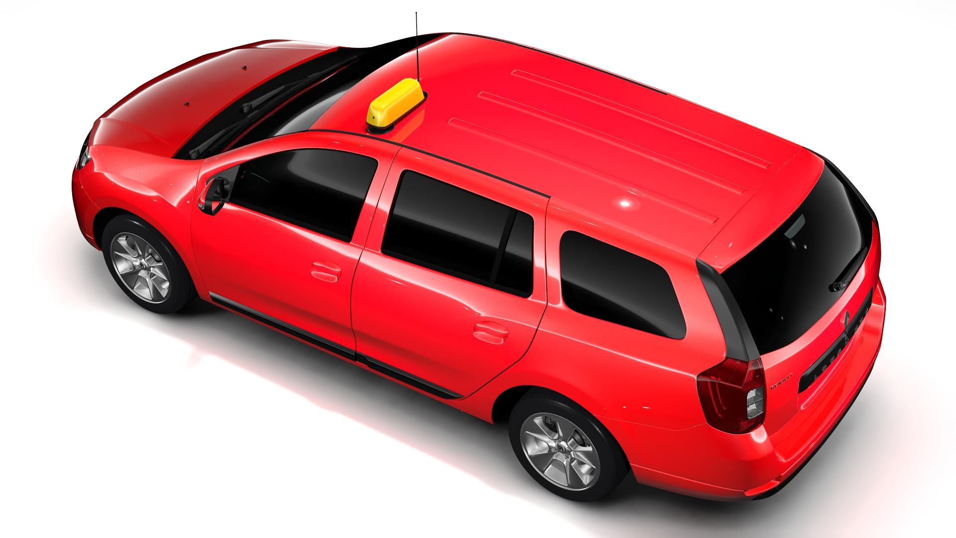 renault logan mcv taxi 2016 3d model 3ds max fbx c4d lwo ma mb hrc xsi obj 221291